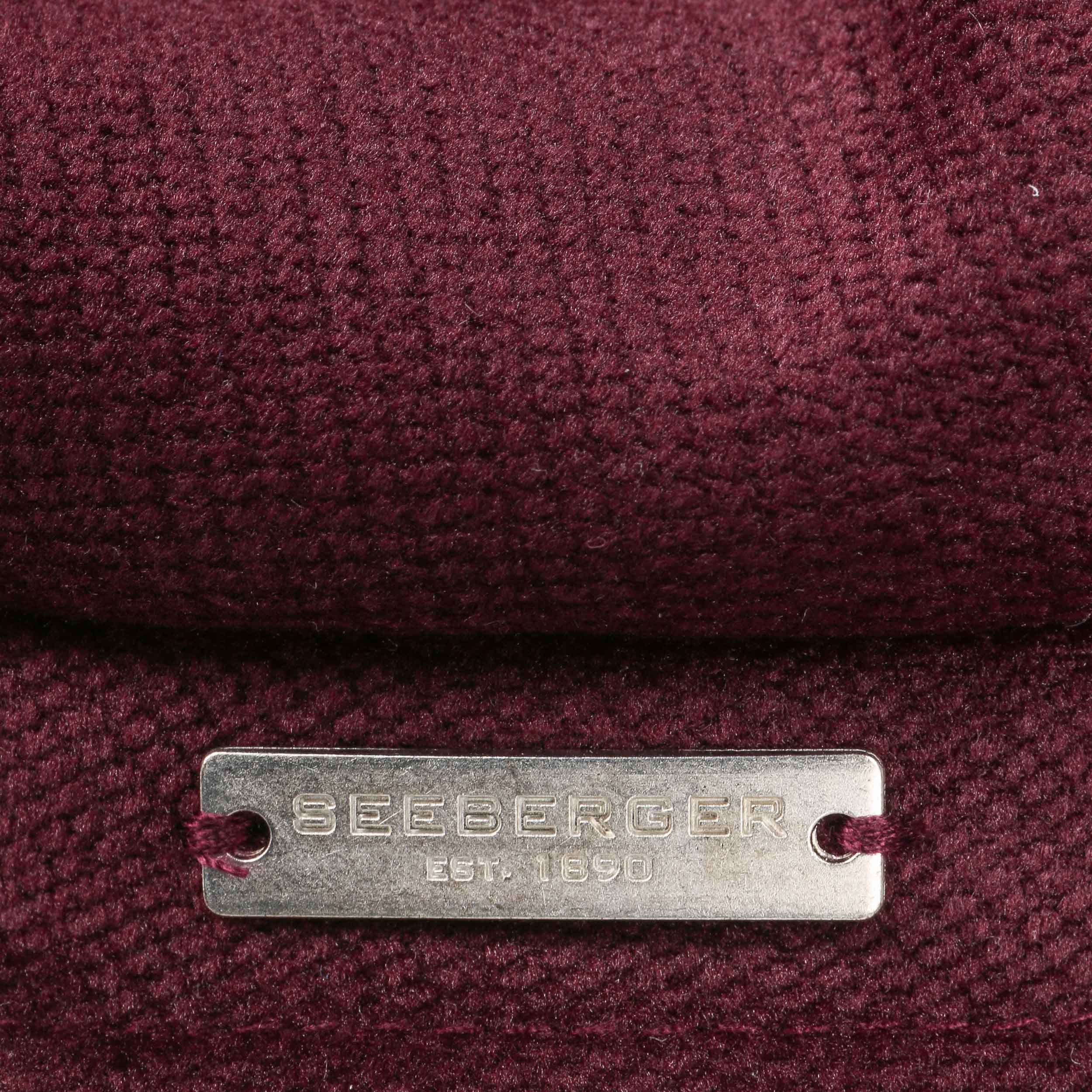 ... Berretto Newsboy in Velluto by Seeberger - rosso bordeaux 5 f9f663269f74