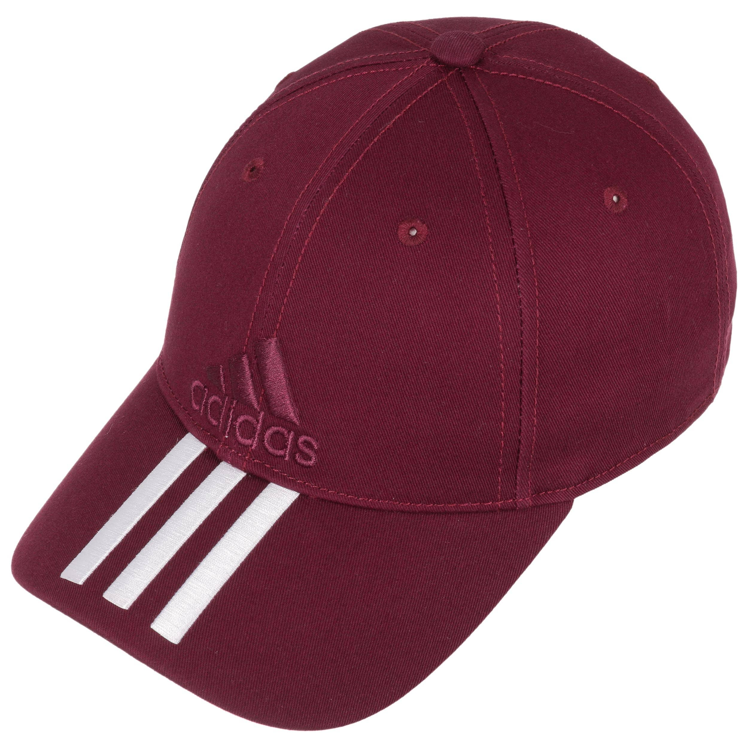 Cappellino 3S Cotton Strapback by adidas - rosso bordeaux 1 ... 8d33fb987bb2