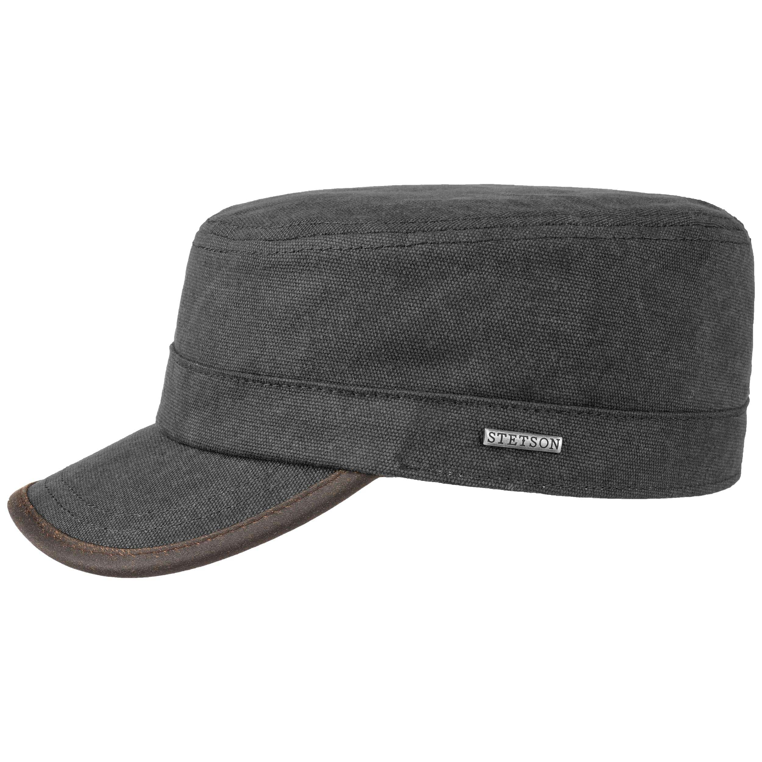 Cappellino Army Fodera in Pile by Stetson - antracite 1 ... ede15ef5c264