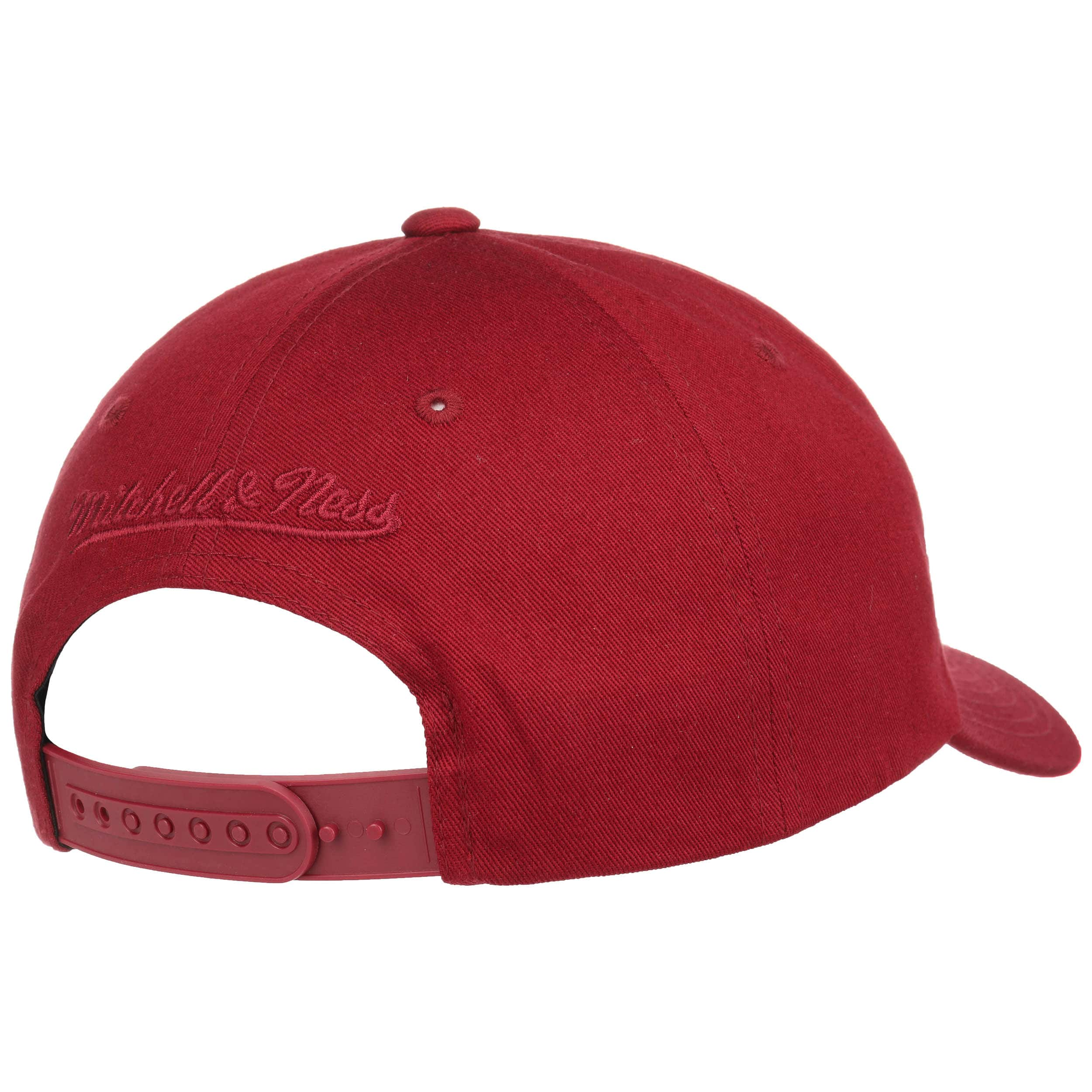 ... Cappellino Dribbler by Mitchell   Ness - rosso bordeaux 3 ... 4cd3afcbb8b8