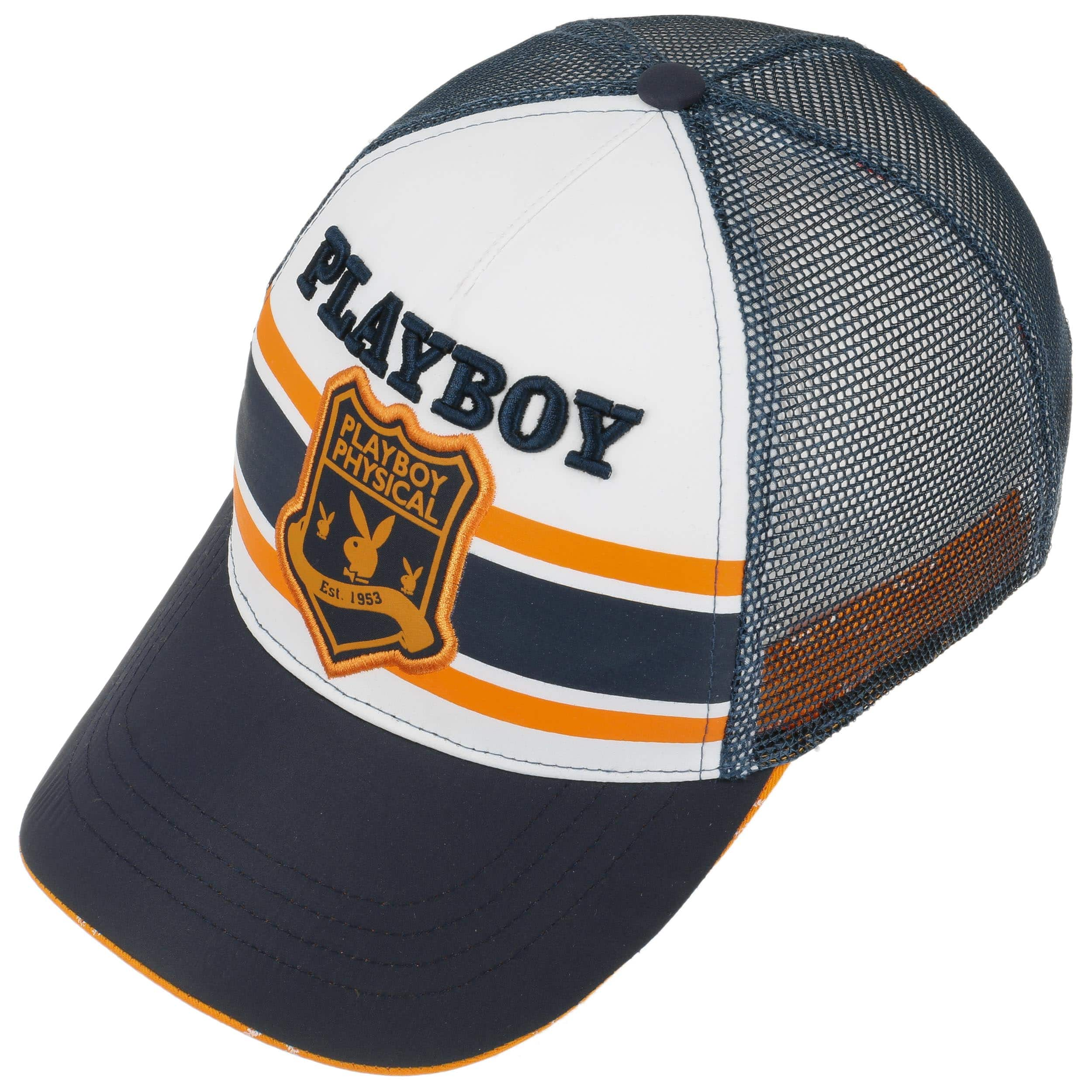 Cappellino Trucker Playboy Bunny - blu scuro 1 ... b41baddcc36e