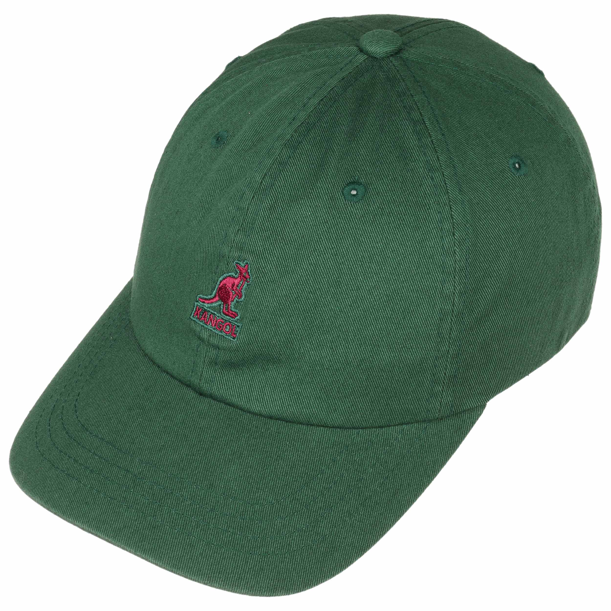 6f96c4b3002 ... Cappellino Washed Dad Hat by Kangol - verde 1 ...