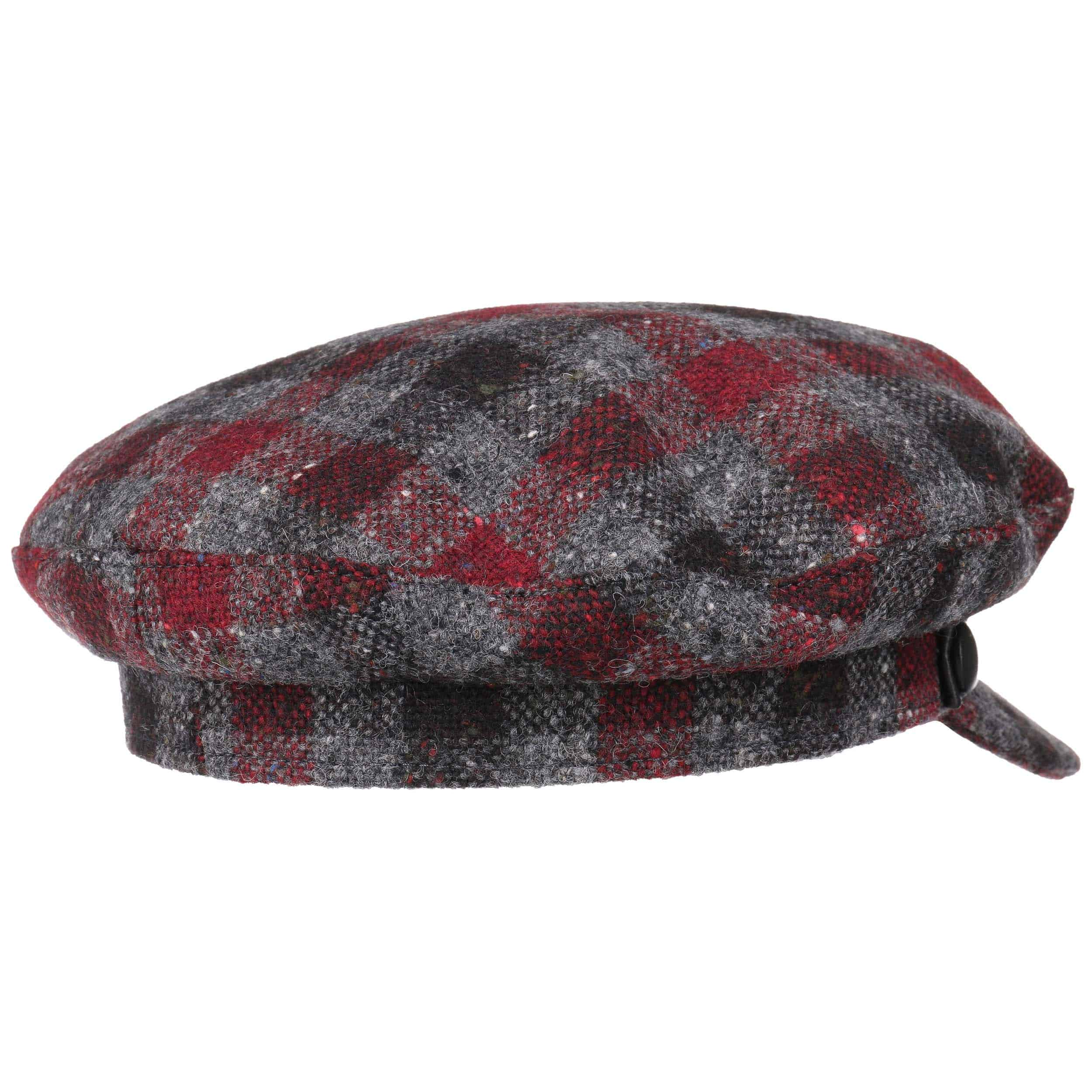 ... Cappello Baker Boy a Quadri by Lierys - grigio-rosso 3 ... 5cf8a1bcf53f