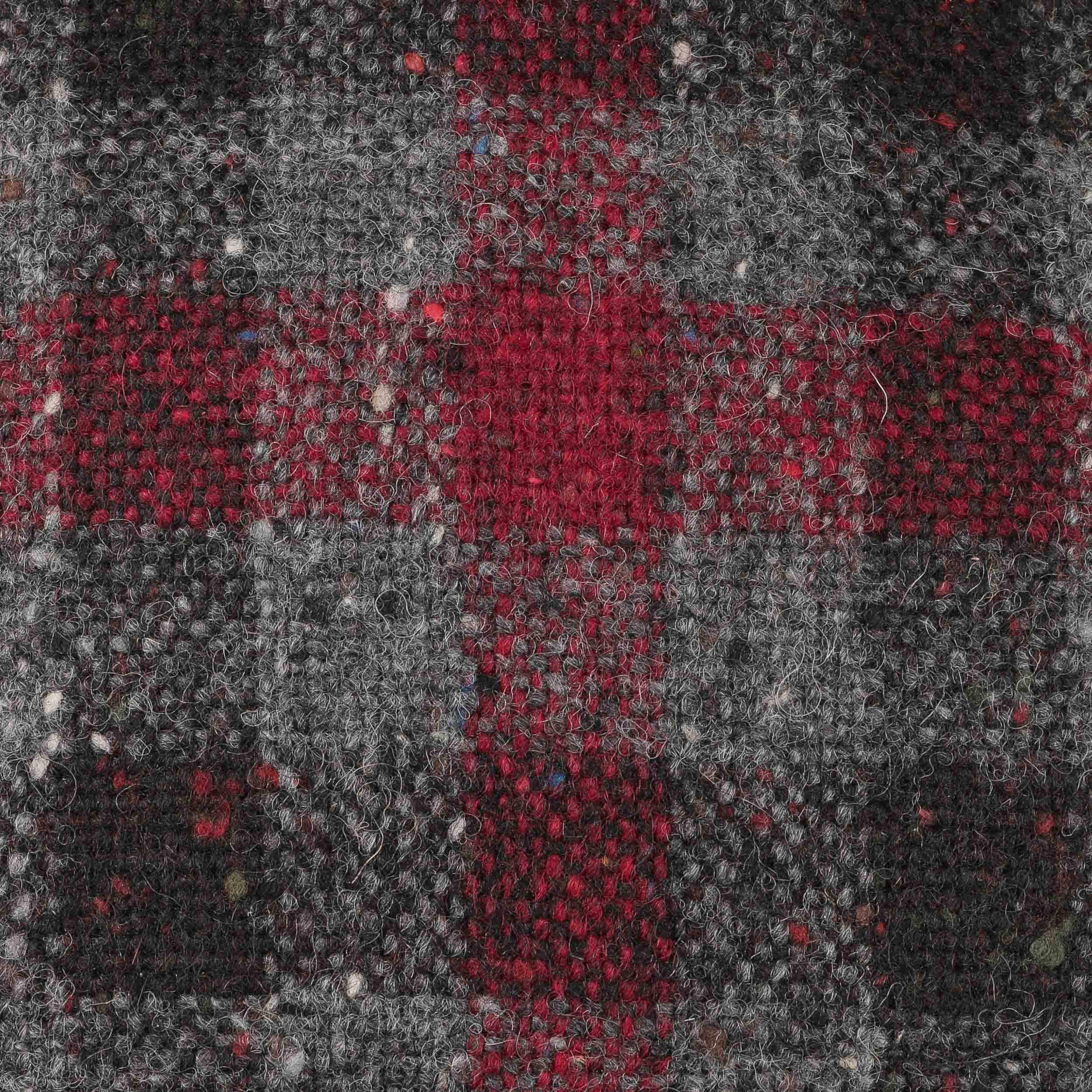 ... Cappello Baker Boy a Quadri by Lierys - grigio-rosso 5 ... 4c176de107c5