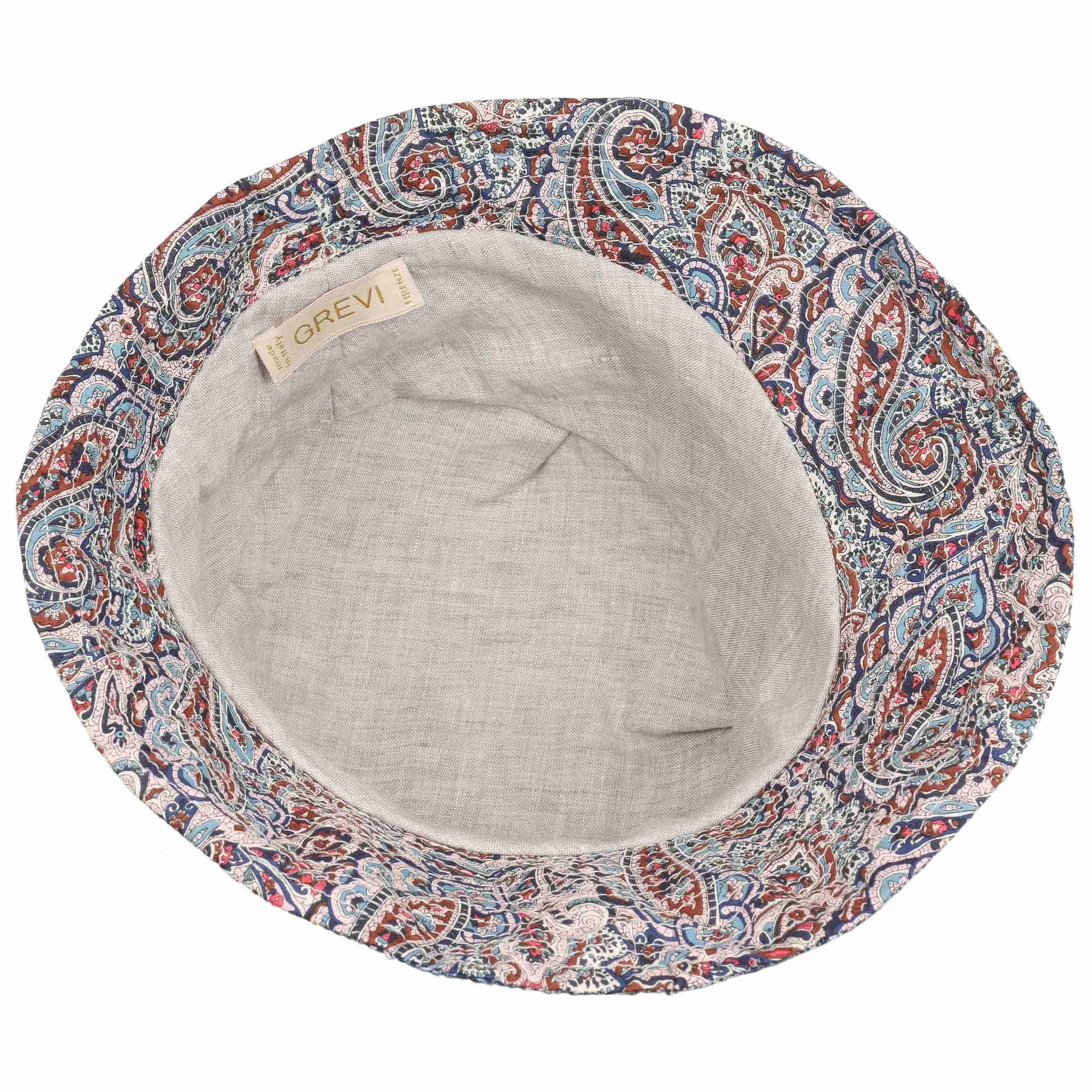 ... Cappello Cloche Cotton Patchwork by GREVI - blu 3 ... d82842aad6eb