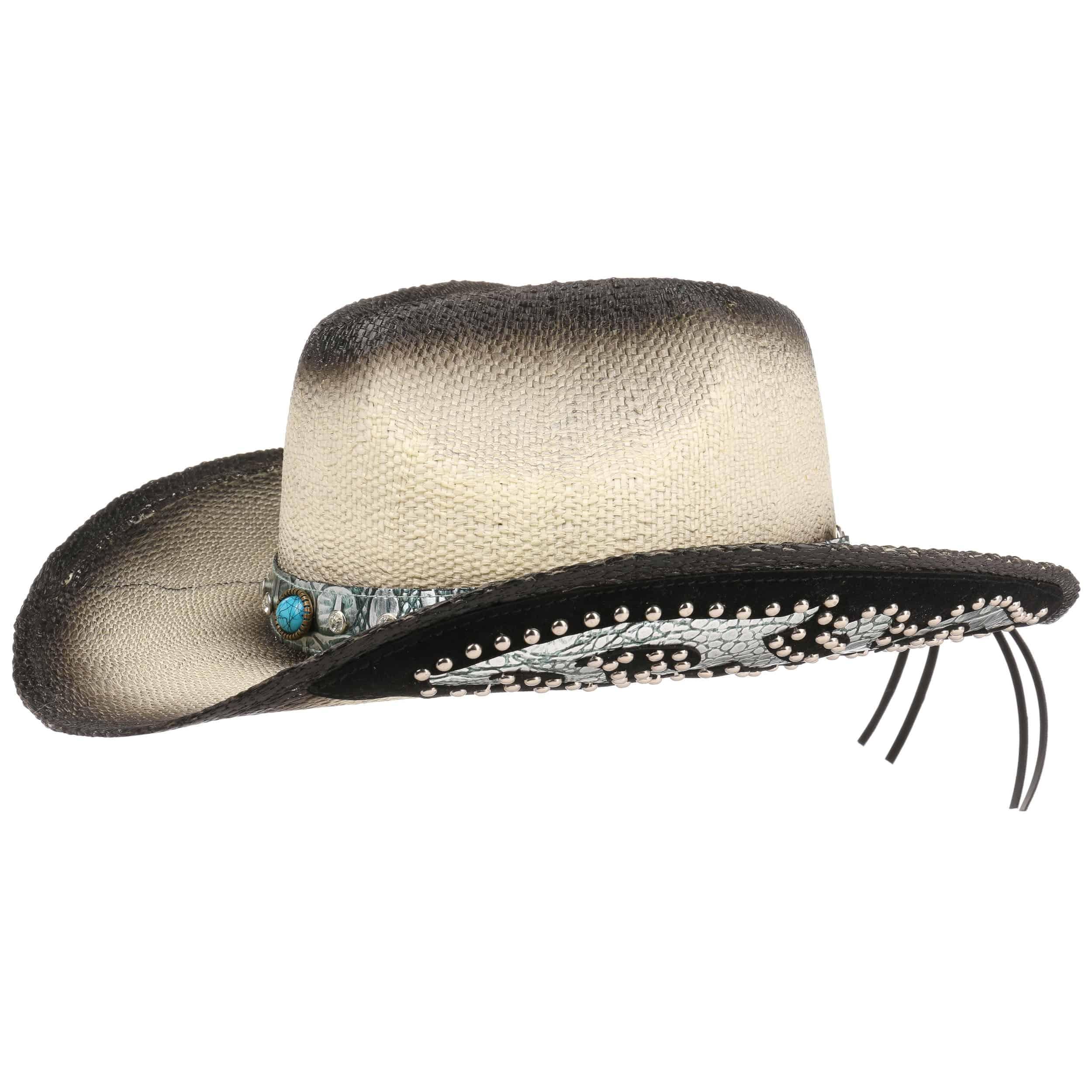 ... Cappello da Cowboy Colour Change by Lipodo - nero-bianco crema 6 ... 7a3d5d4836eb