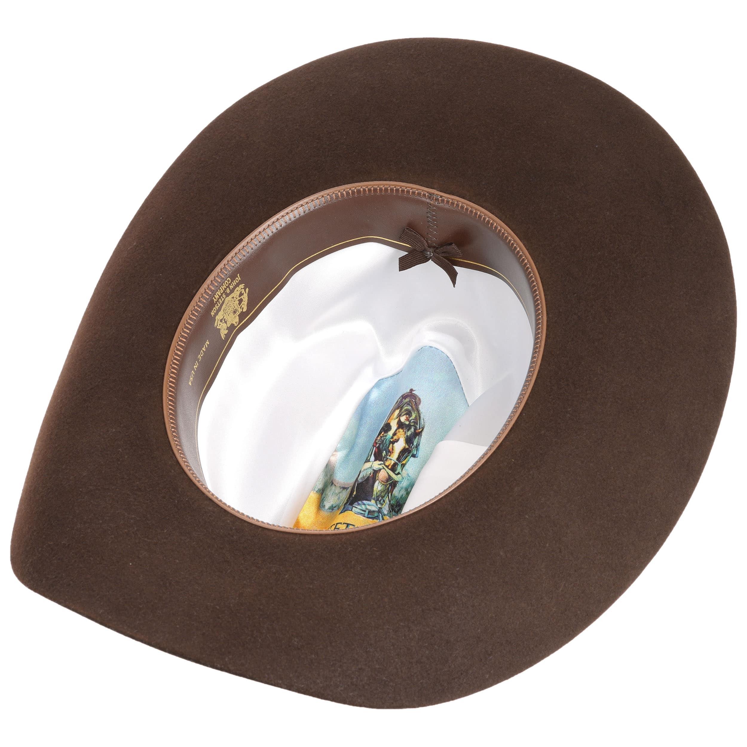 ... Cappello da Cowboy Lariat 5X by Stetson - marrone scuro 2 ... fa2030a26b1
