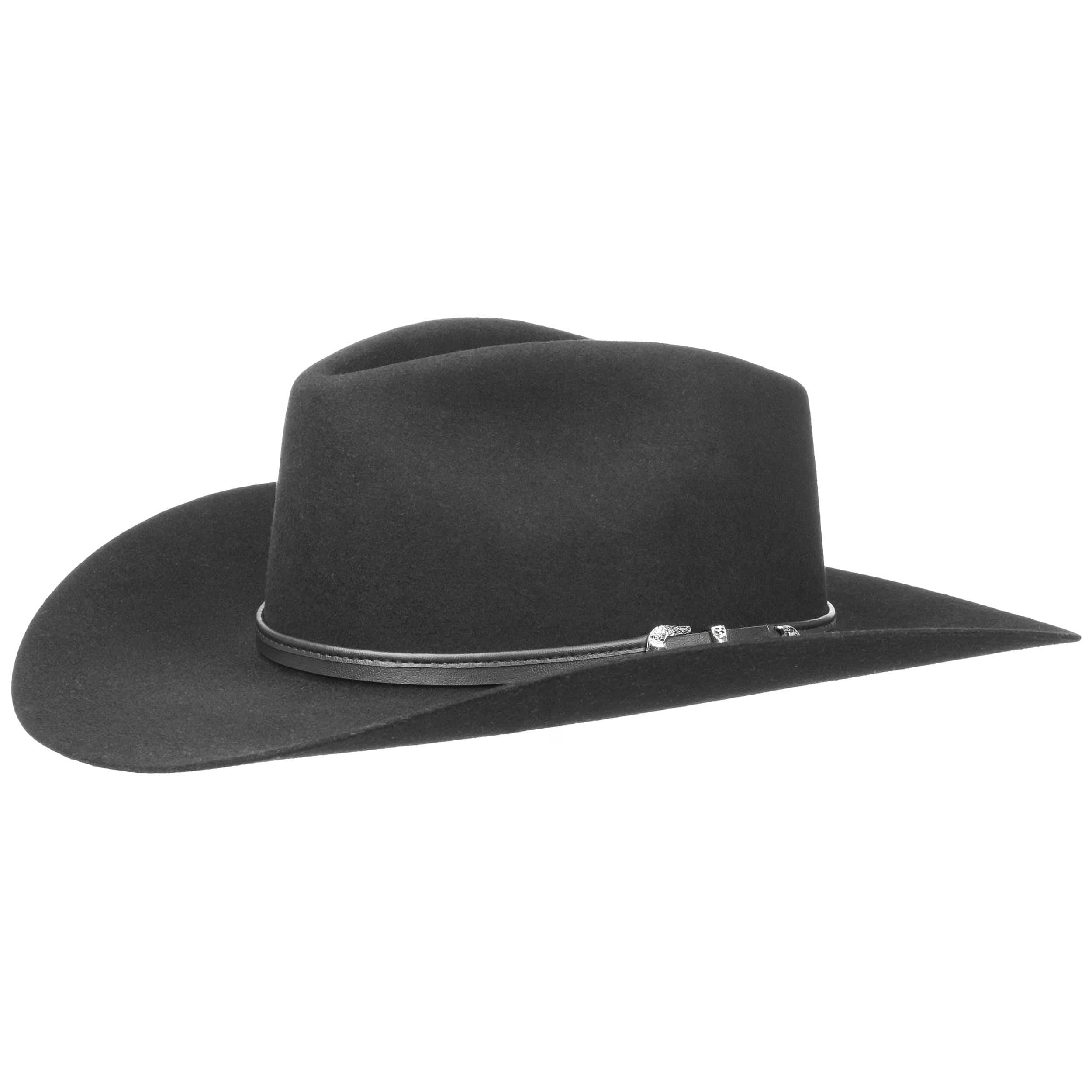 ... Cappello da Cowboy Seneca 4X by Stetson - nero 4 ... 76746aee2ec3