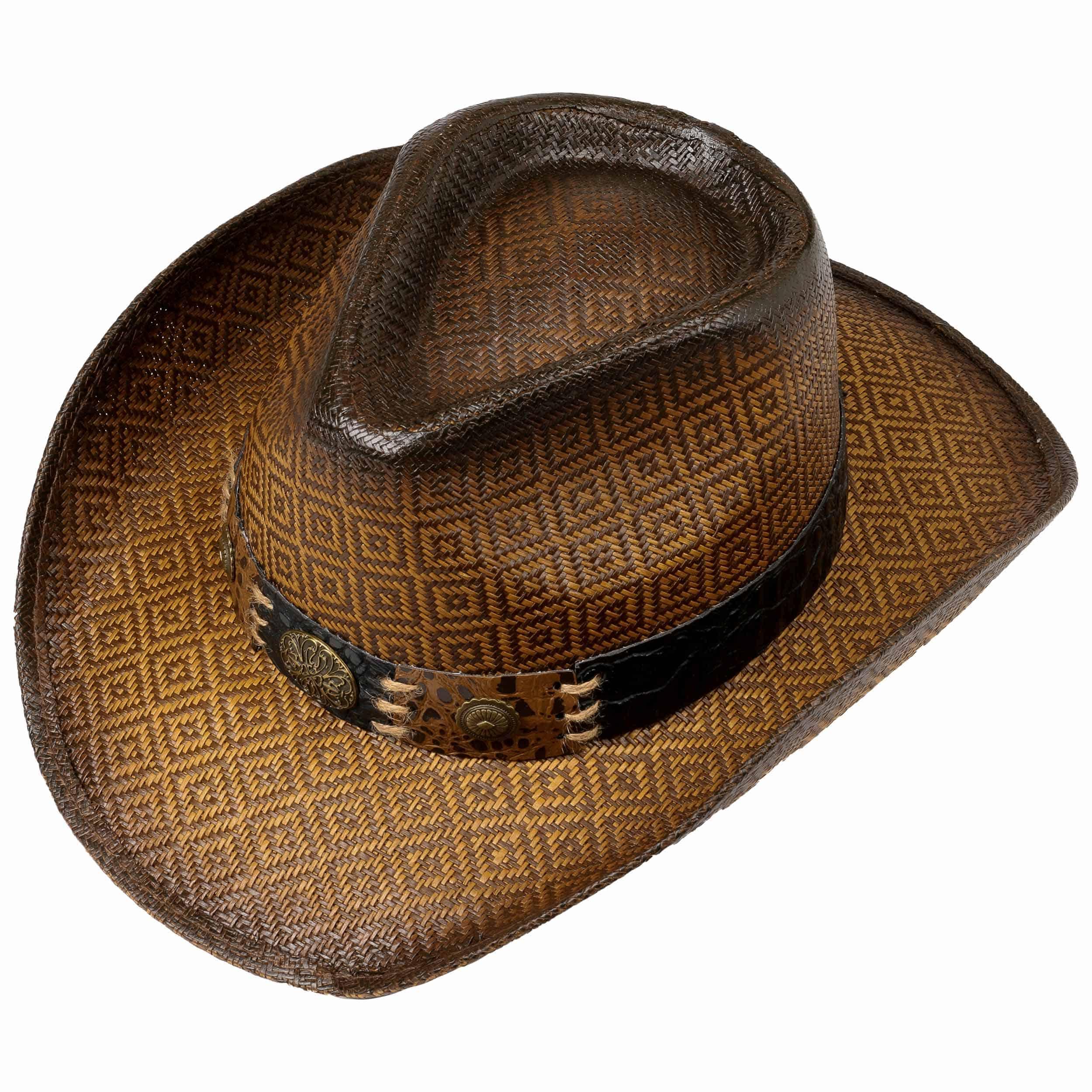 Cappello da Cowboy Squares by Lipodo - marrone 1 ... 19f287a01797