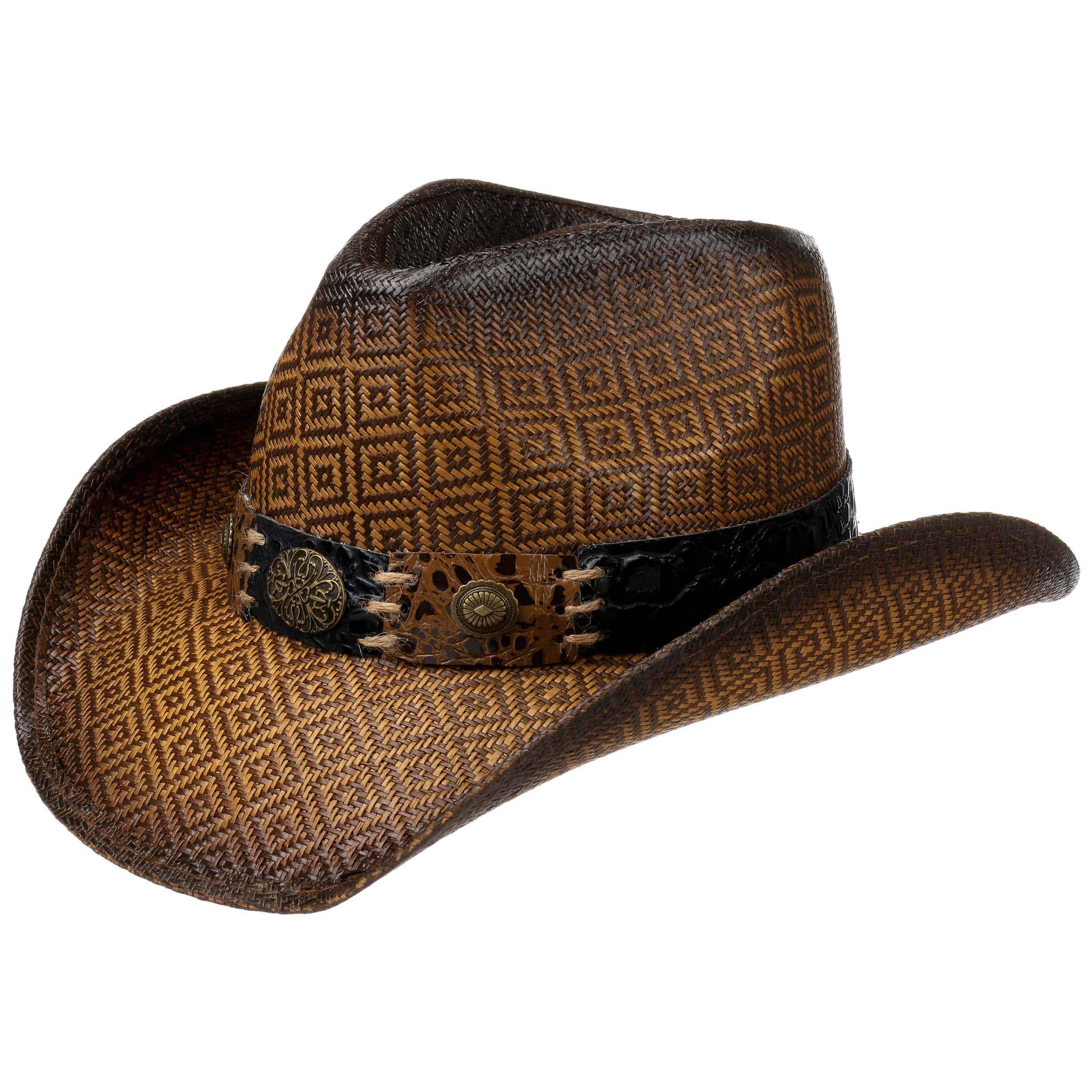 ... Cappello da Cowboy Squares by Lipodo - marrone 4 98efbb9dd272