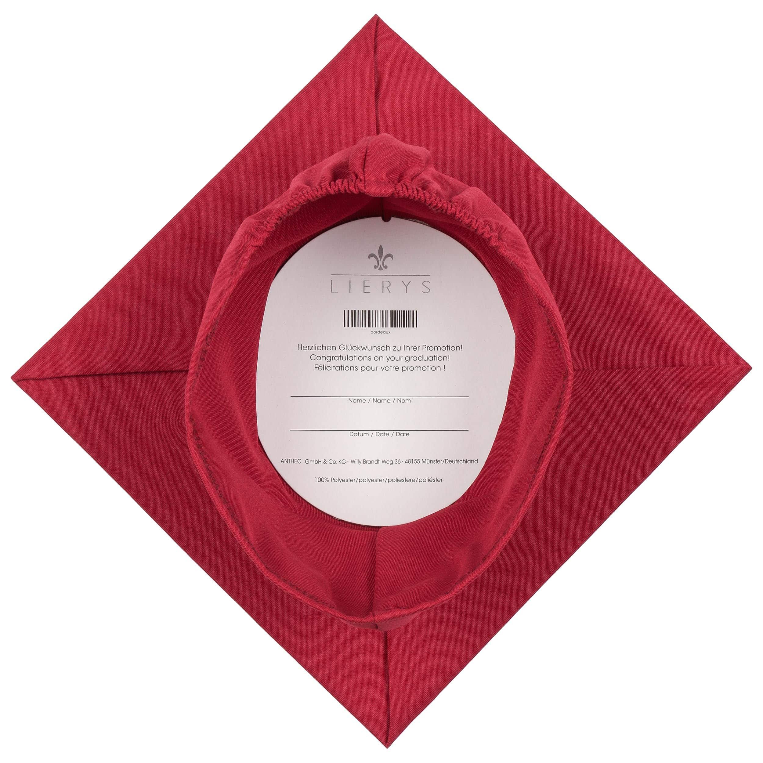 ... Cappello da Laurea Flessibile by Lierys - rosso bordeaux 2 ... e68c6f568f66