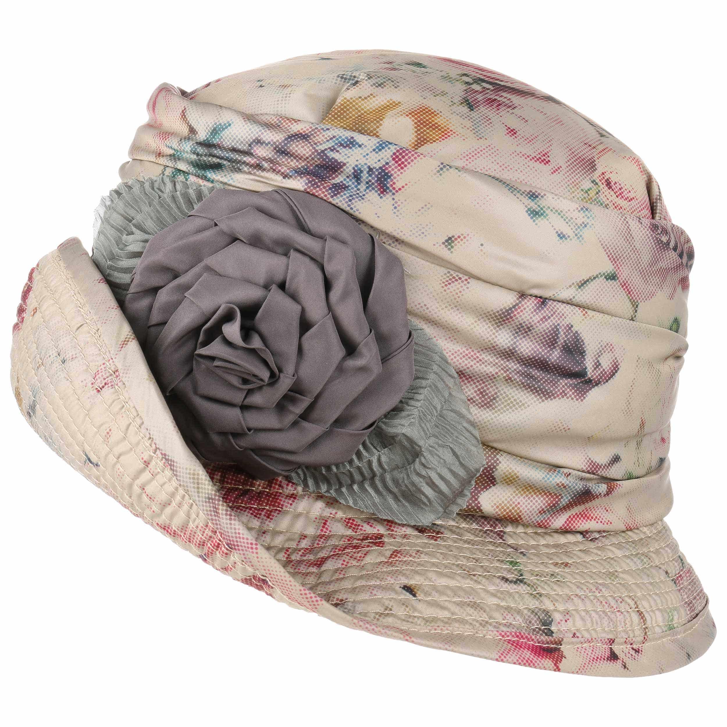 ... Cappello da Pioggia con Motivo di Rose by GREVI - beige 3 73096eb7d56f