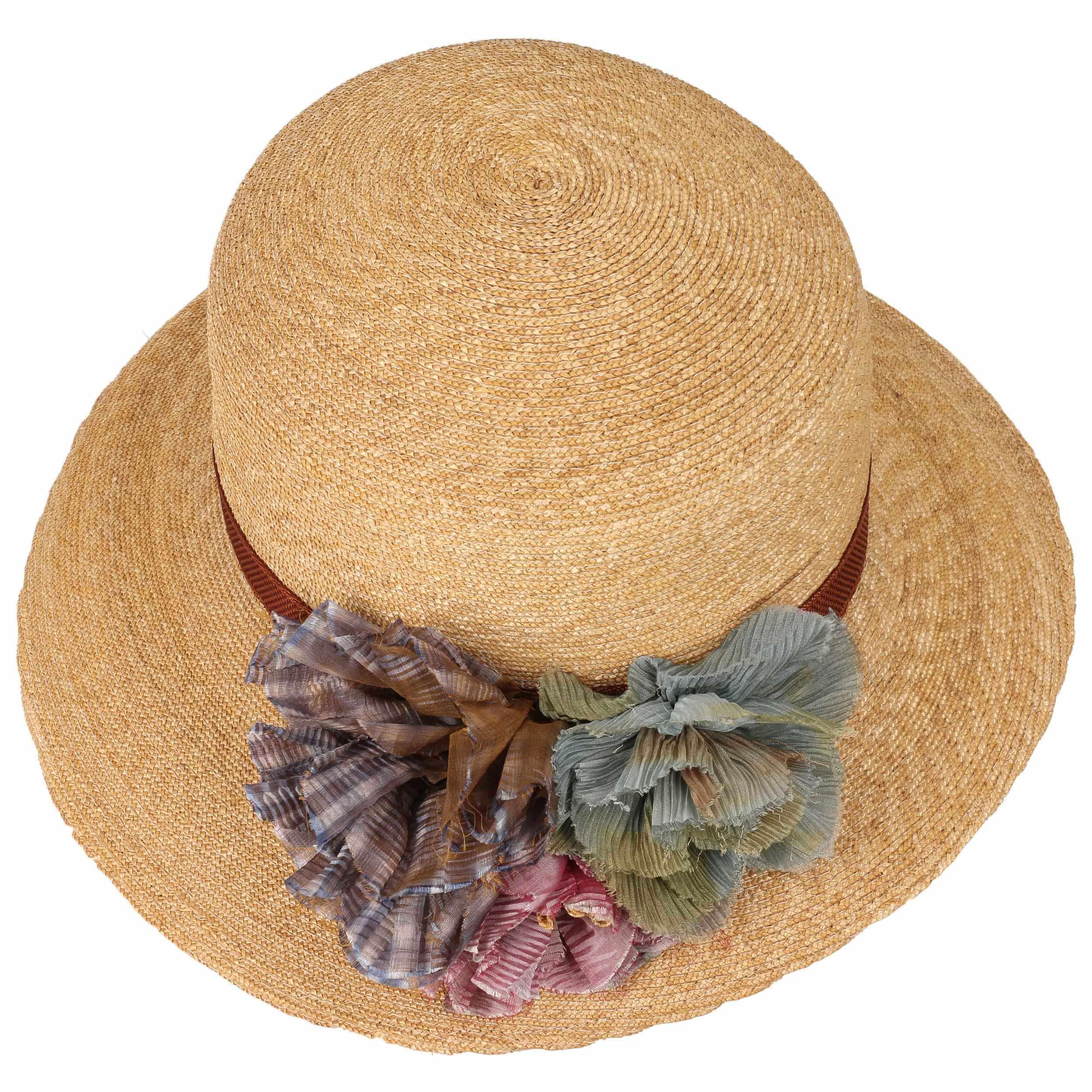 Cappello di Paglia Asym Flower by GREVI - natura 1 ... 4d9bdb63e126