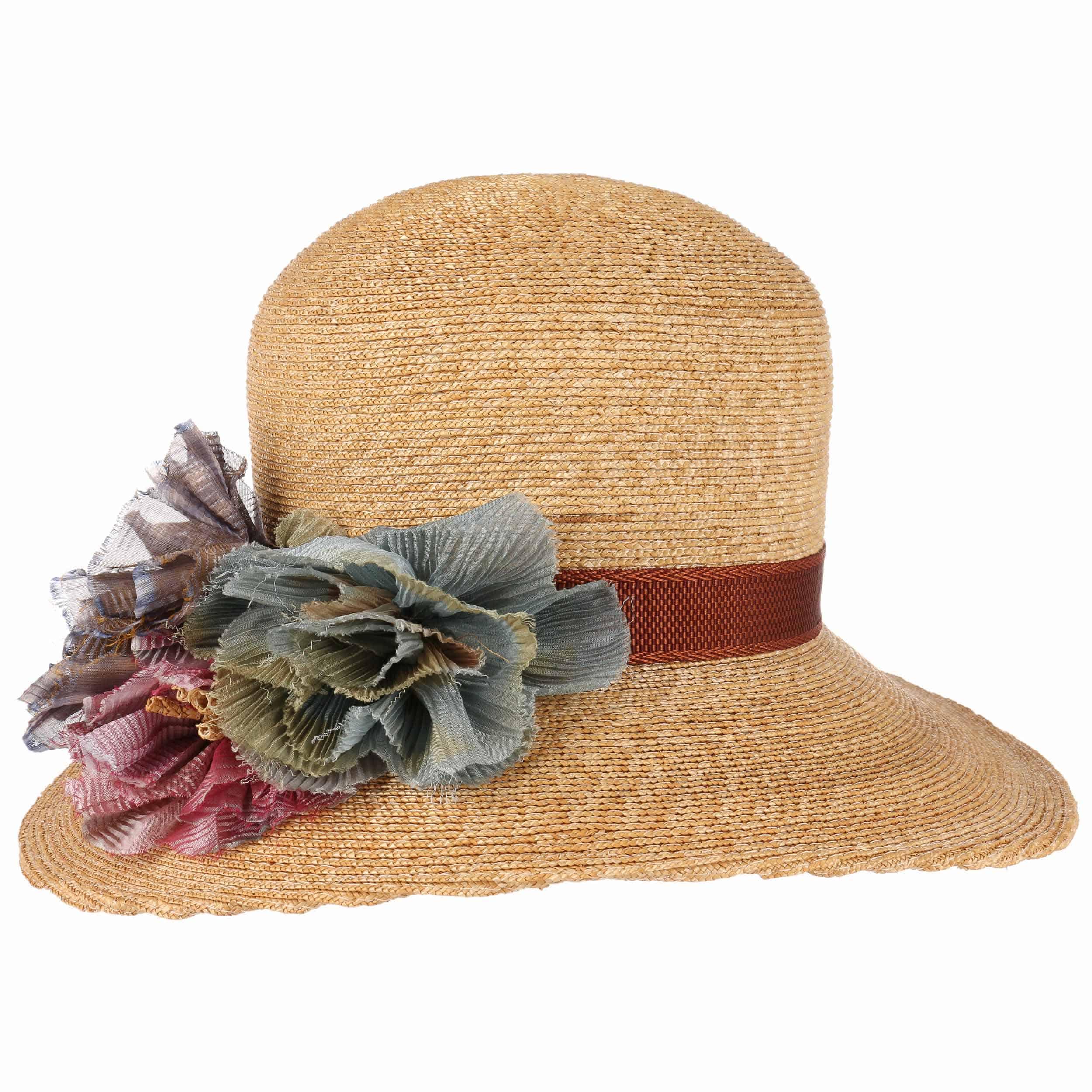 ... Cappello di Paglia Asym Flower by GREVI - natura 6 ... cd7e1fa5cbe1