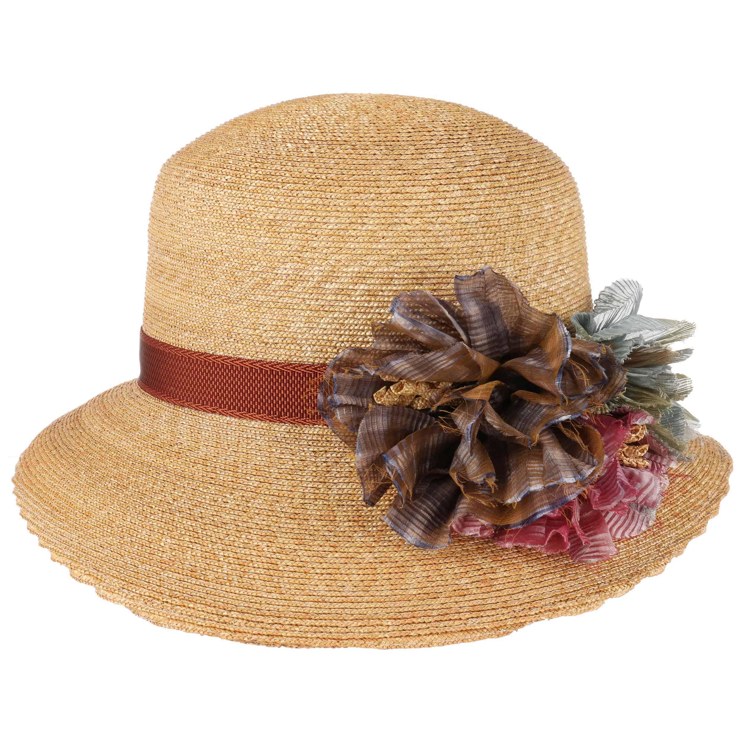 ... Cappello di Paglia Asym Flower by GREVI - natura 7 499a2f69a74d