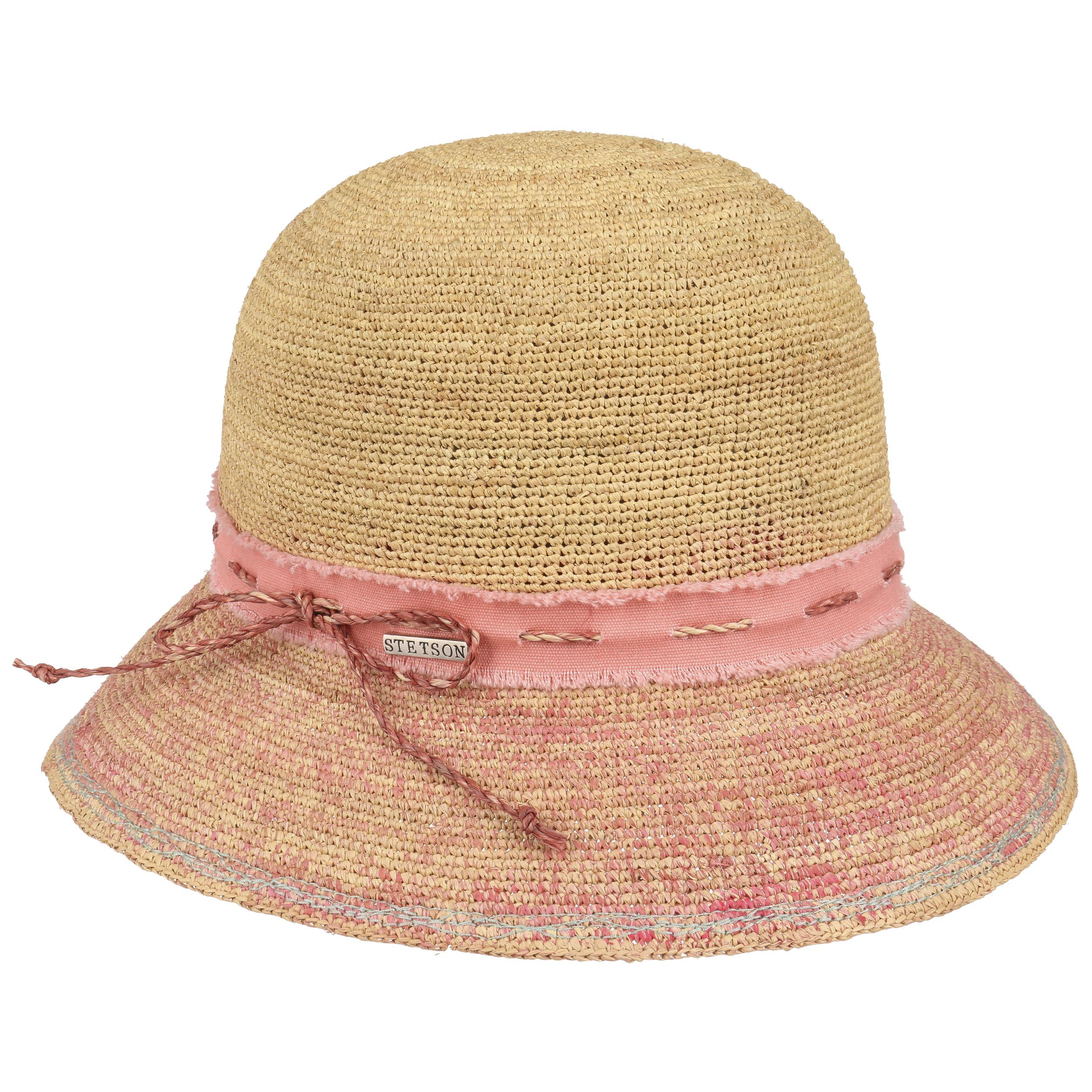 ... Cappello di Paglia Crochet Donna by Stetson - rosa 2 e9ac1b587adb