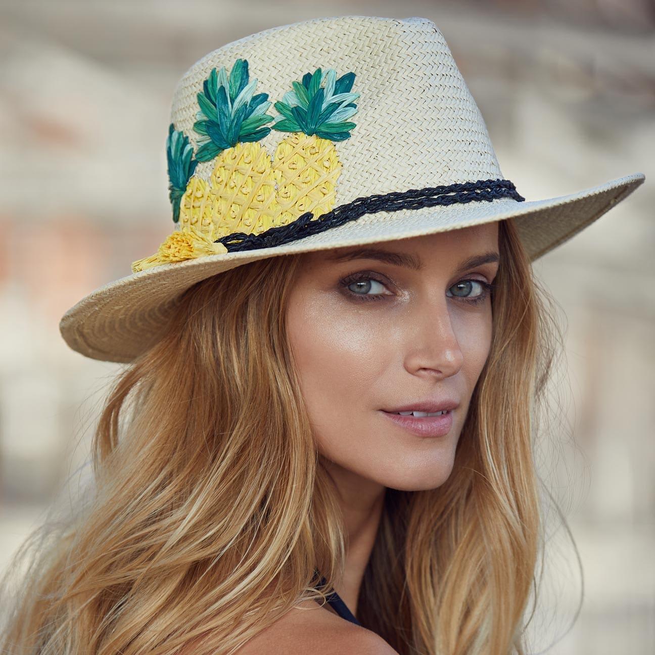 ... Cappello di Paglia Three Pineapples by Seeberger - natura 5 ... 5a157b84a5bc