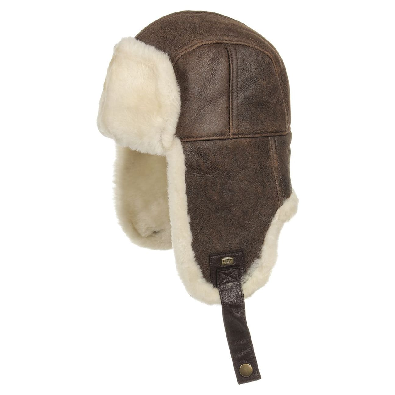 Chapka in Pelle di Angello by UGG - marrone 1 ... d67aeaee9213