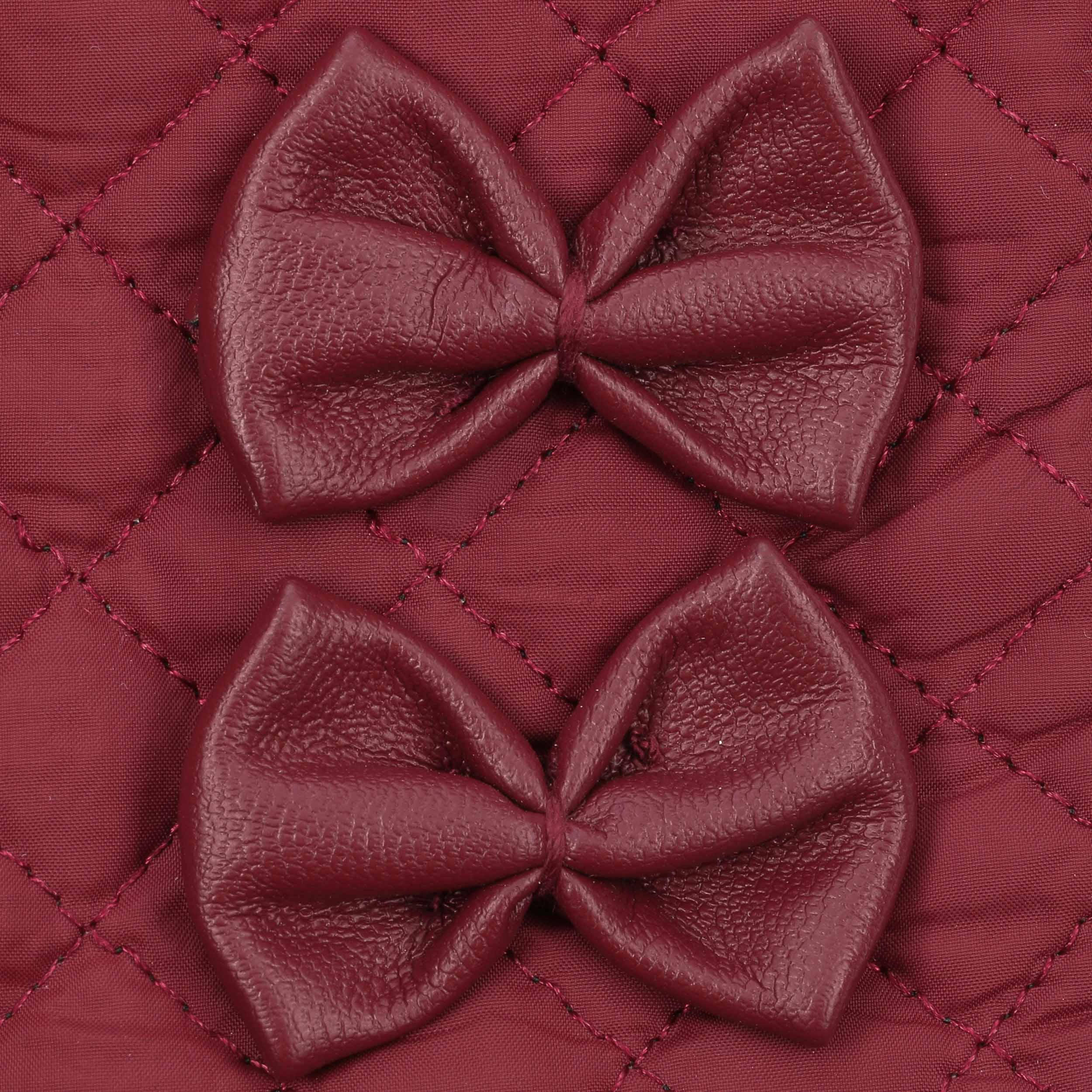 ... Guanti da Donna Quilted by McBURN - rosso bordeaux 2 ... 0032ca9d6ceb