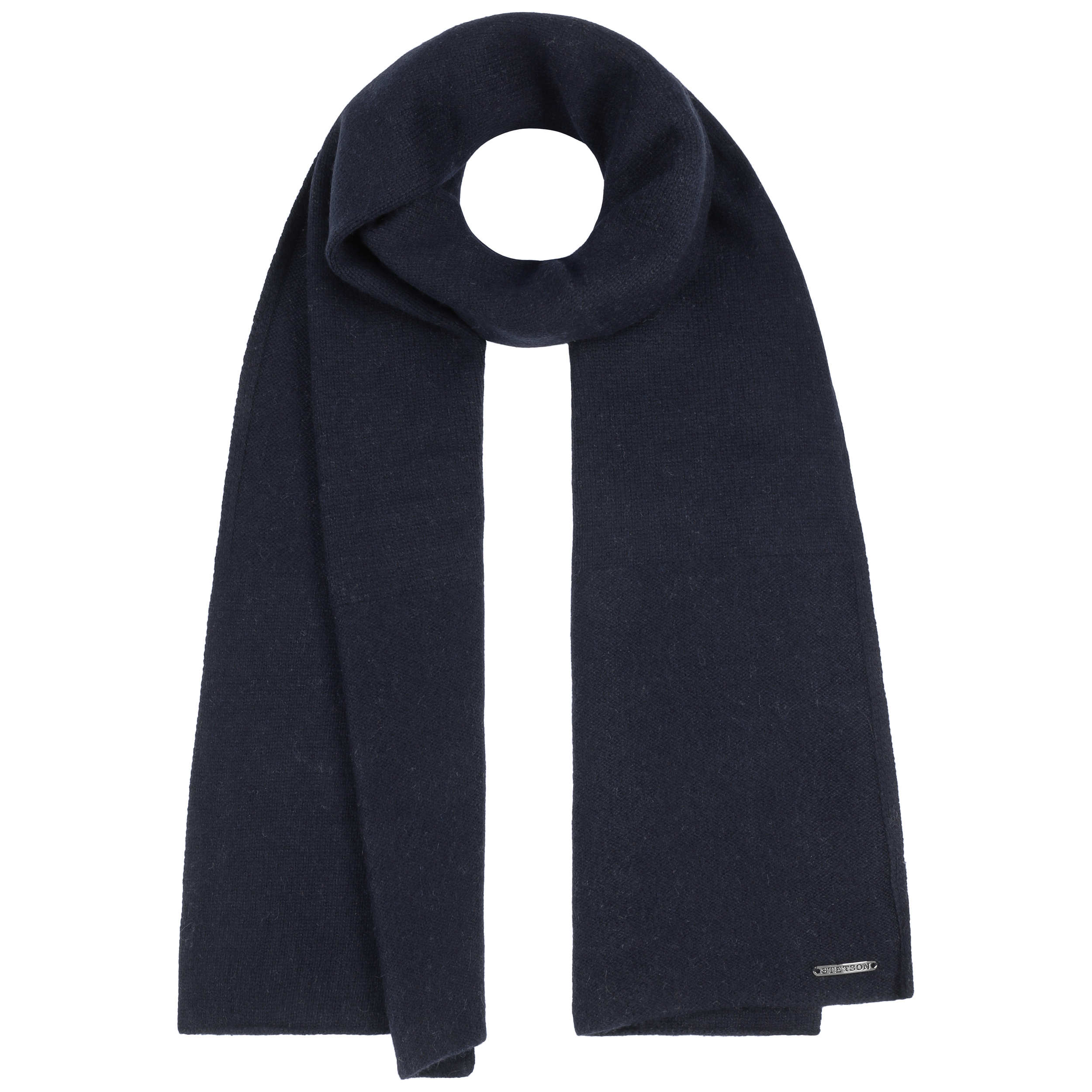 ... Sciarpa a Maglia Cashmere Wool by Stetson - blu scuro 2 ... e15bcac23a0f