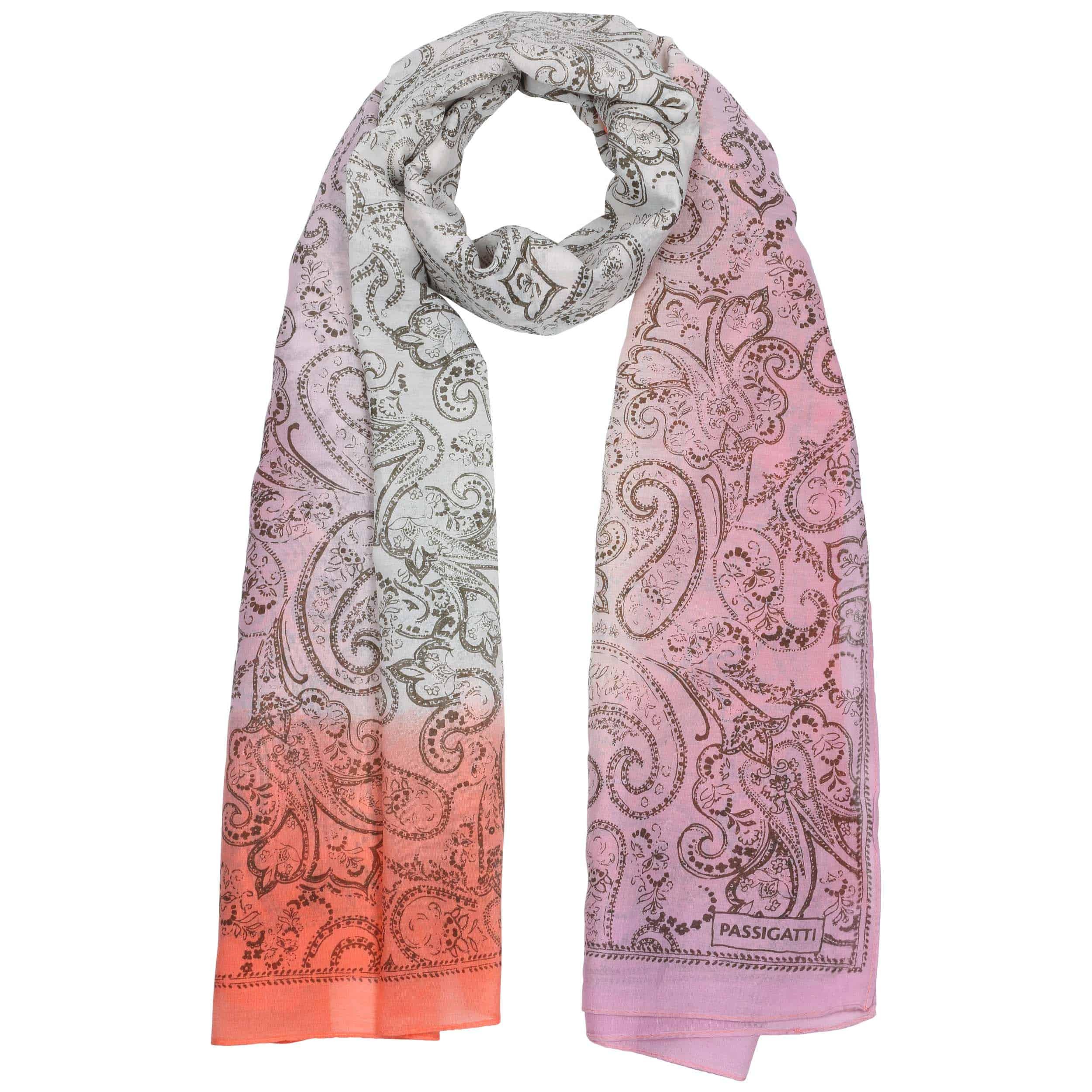 Sciarpa bordeaux a pois panna rosa seta e cotone