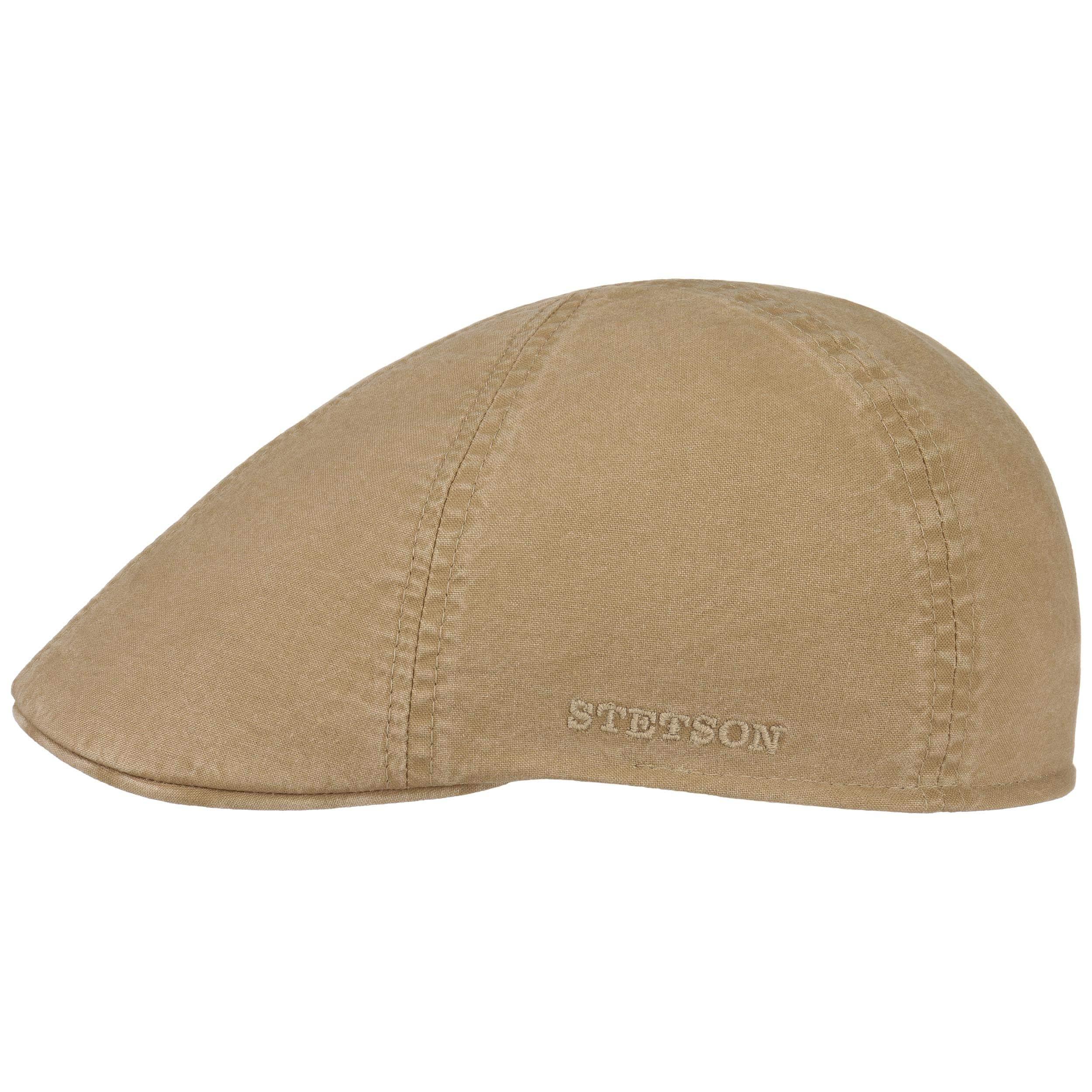 Fodera Fodera Estate//Inverno Stetson Coppola Texas Grenville Check Uomo Made in The EU Cotton cap Cappello Piatto Berretto Lino con Visiera